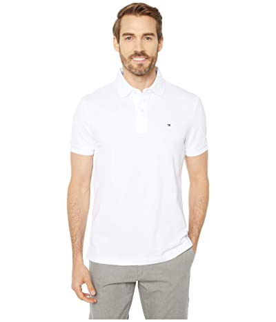 Tommy Hilfiger Adaptive Custom Fit Polo (Bright White) Men