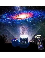 「令和最新版 リモコン式」スタープロジェクターライト 星空ライト スターナイトライト, Yorze ベッドサイドランプ 家庭用 プラネタリウム ライト 常夜灯 雰囲気を作り 星空投影 タイマー付 多色変更可能 6 セット投影映画360度回転 USB 電池 兼用 お子さん・彼女にプレゼント 誕生日ギフト