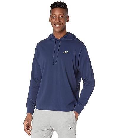Nike NSW Club Hoodie Pullover Jersey (Midnight Navy/White) Men