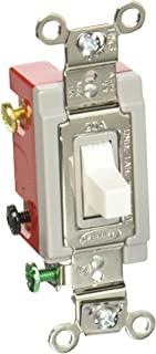 Hubbell HBL1557W Momentary Toggle, Single Pole Double Throw, 20 amp, 120/277V, White