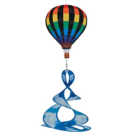 Briarwood Lane Bumblebee Deluxe Hot Air Balloon Wind Twister Everyday 54 L