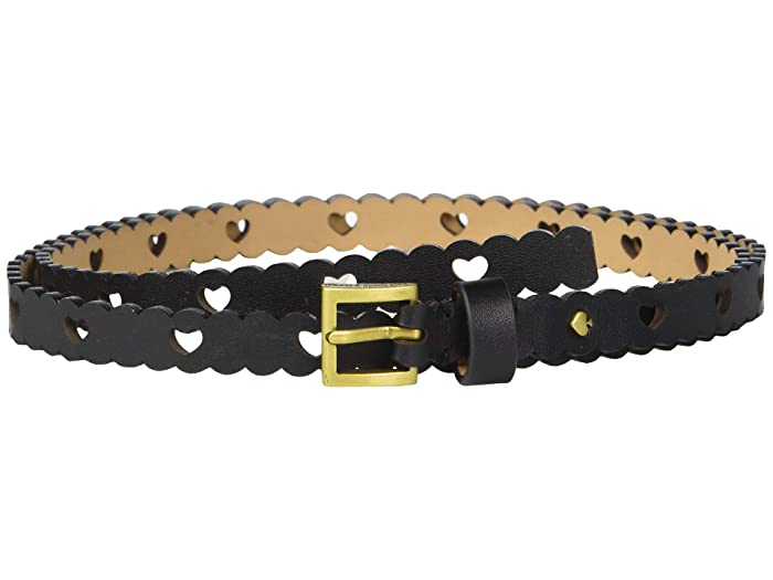 Kate Spade New York 13 mm. 1/2 Heart Perf Belt (Black) Women