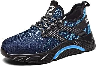 Monrinda Säkerhetsskor, S3 Arbetsskor Herr Kvinnor, Sportig halkfri Kevlar Sneaker med ståltåhatt, Lätt, andas