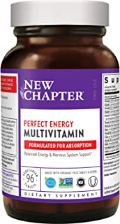 New Chapter Energy Supplement - Perfect Energy Multivitamin for Balanced Energy + Stress Support with B Vitamins + Vitamin...