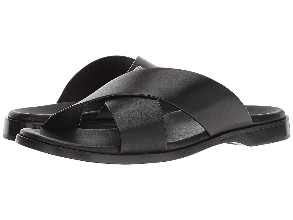 Cole Haan Goldwyn II Crisscross Sandal (Black Smooth) Men