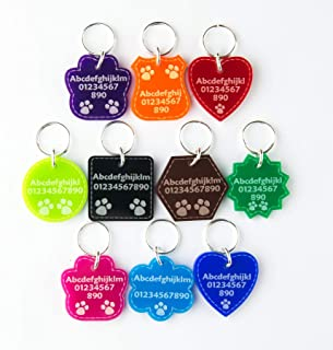 acrylic pet tags