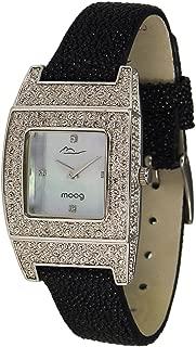 Smart Women's Watch with White/Pink Dial, Bordeau/Black/Pink/Cream/Blue Galuchat Strap & Swarovski Elements