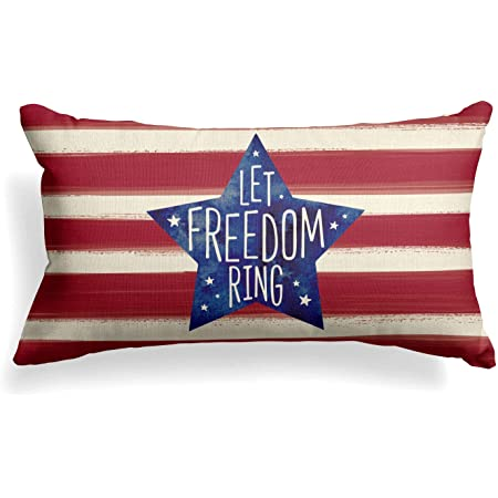 4TH OF JULY BUTTERFLY American Flag Decorative Pillow