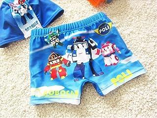 2点セット ベビー水着 スイミング 男の子 スイムパンツ 帽子付 キッズ ボーイズ 海水パンツ 幼稚園 プリント スイムウエア 子供 ショーツ ブリーフ 5サイズ 1~10歳