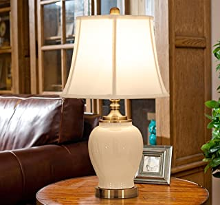 ZSFWY American Style Keramik Tischlampe Wärme Schlafzimmer Nachttischlampe Europäische Retro Wohnzimmer Study Lampe Button Schalter E27 Lichtquelle (Farbe   A) B07JFJNWFD  Qualität zuerst