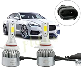 PLDDE 2pcs 9006/HB4/9012 6000K Cool White 7200LM All-in-One LED COB Bulbs Conversion Kit For Headlights High Low Beam Driving Fog Light DC 12V/24V IP67 Pack of 2 Driver+Passenger Replacement
