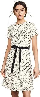 Rebecca Taylor Women's Short Sleeve Plaid Tweed Dress