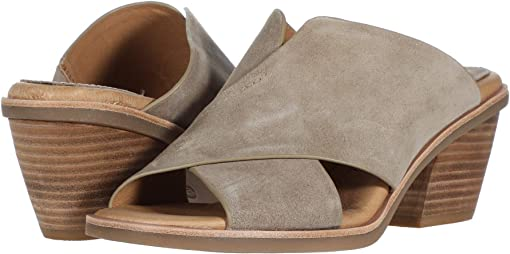 Light Grey Oiled Cow Suede