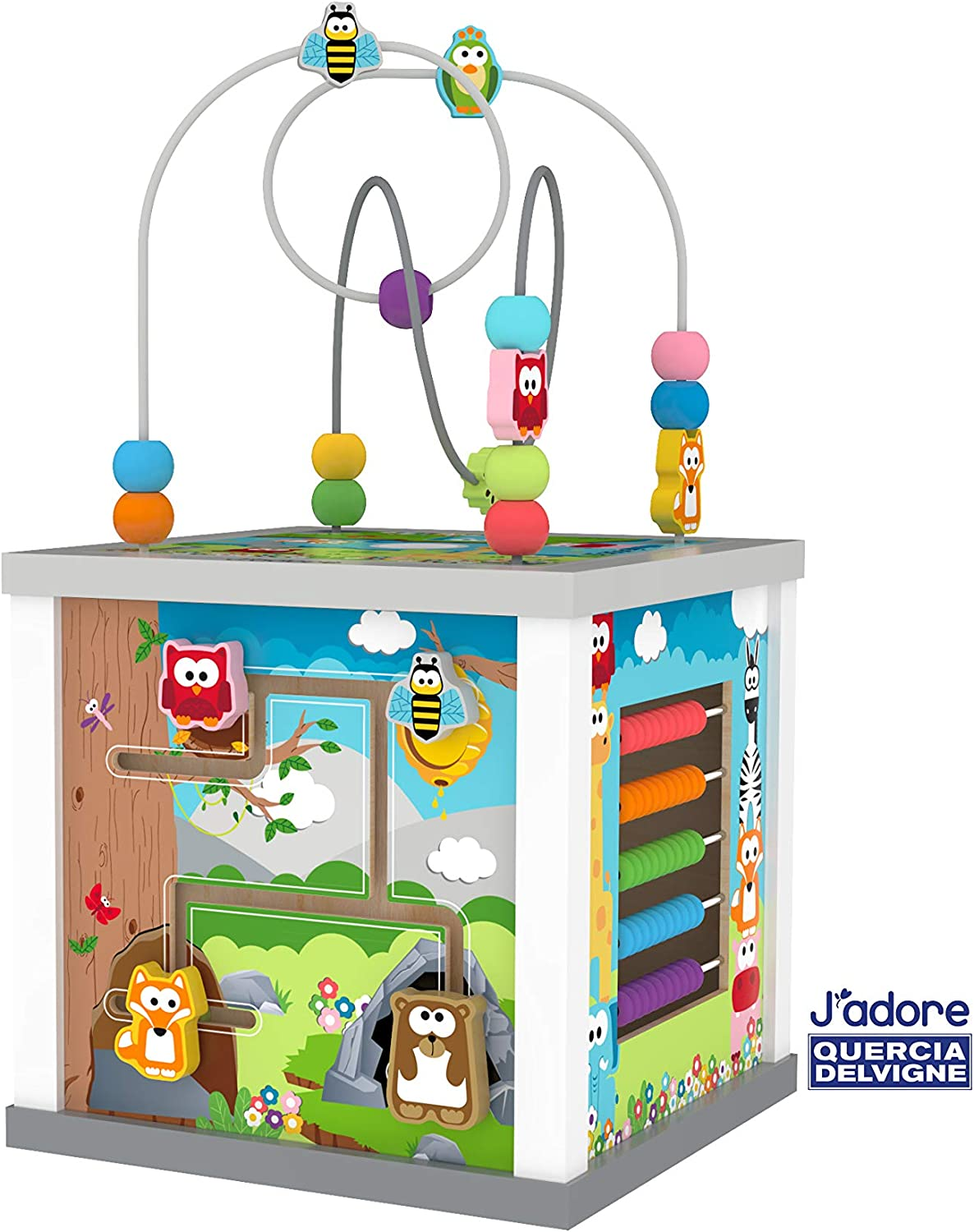 J'adore Big Wooden Outlet SALE Zoo Animal Center Popularity Activity 5-in-1 Cube