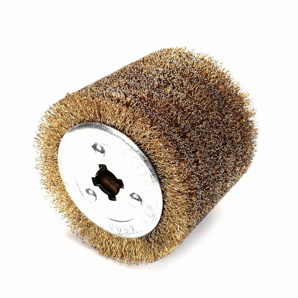 0.5mm Wire Drawing Flap Polishing Burnishing Wheel Grinding Abrasive Tool for The Surface Treatment of Stainless Steel Aluminum Copper and other Metal Products 120x105mm