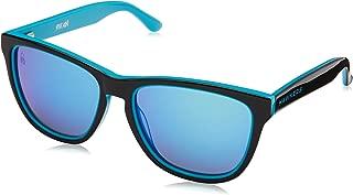 Hawkers Men's X STEVE AOKI NEON HNX01 Rectangular Sunglasses, Blue, 12 mm