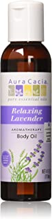 Aura Cacia Relaxing Lavender Aromatherapy Body Oil, 4 Ounce (Pack of 12)