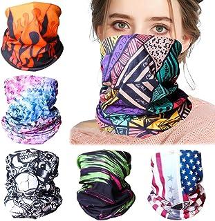 Candygirl 6PCS Magic Headband for Women Men Face Mask Bandana Balaclava Neck Gaiter Outdoor UV Protection Sports Headwear