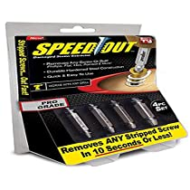 SONIQE Steel Speed Out Damaged Screw Extractor 4 Piece Set For Any Size Screw or Bolt