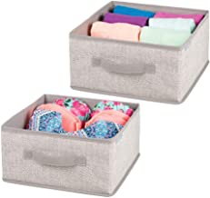 mDesign Soft Fabric Modular Closet Organizer Box with Handle for Cube Storage Units in Closet, Bedroom to Hold Clothing, T...
