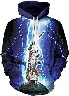 NEWCOSPLAY Unisex Realistic 3D Digital Print Pullover Hoodie Hooded Sweatshirt