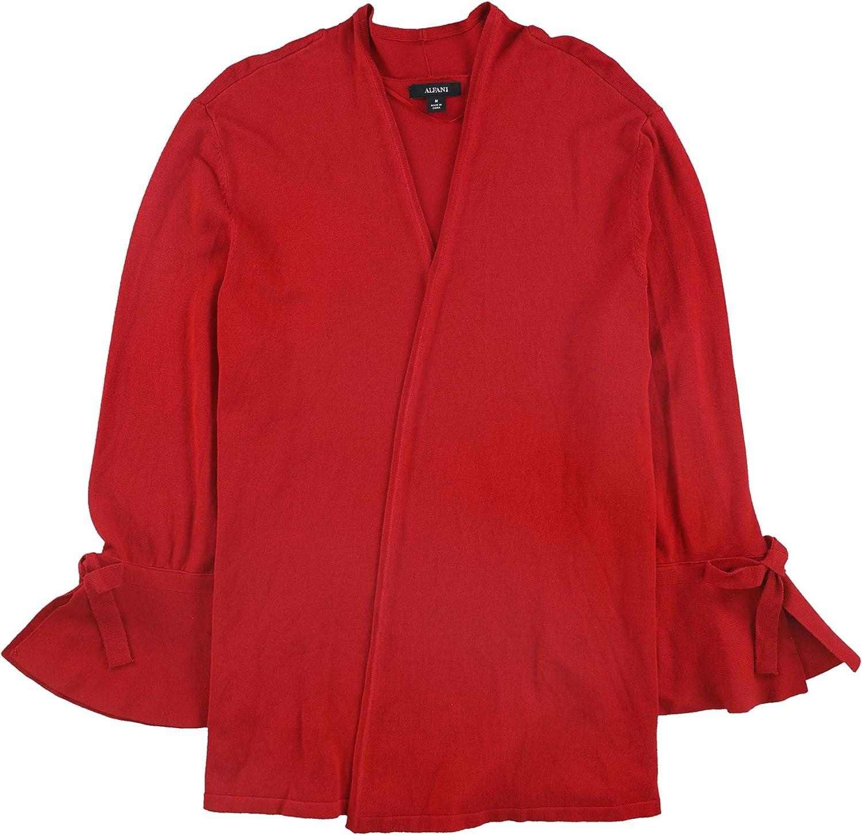 Alfani Womens Tie Sleeves Open Top Front Fees Genuine free Cardigan