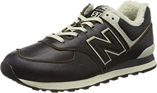 new balance 574 uomo pelle nera
