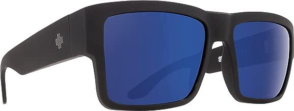 Spy Optic Cyrus Flat Sunglasses, Soft Matte Black/Bronze with Light Blue Spectra, 58 mm