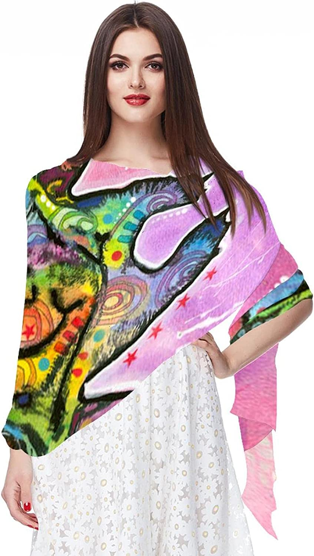 Scarfs for Women Lightweight Fashion Scarves Print Floral Pattern Scarf Shawl Wraps, Deanrussogiraffe