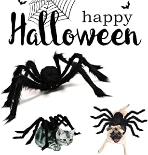 Shinyeagle Dog Halloween Costumes, Halloween Decorations Clearance Spider Pet Costume, Cat Costumes Decorations with 8 Spi...