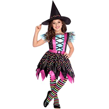 Various Colours BLACK SPOTS Girls Halloween Tights Ages 4-14