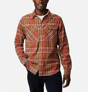 قميص رجالي من Columbia بتصميم خارجي من الفلانيل المرن