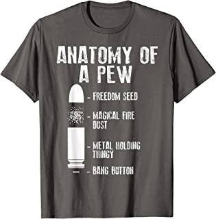Anatomy Of A Pew Shirt   Funny Weapon Gun Bullet-Proof Gift