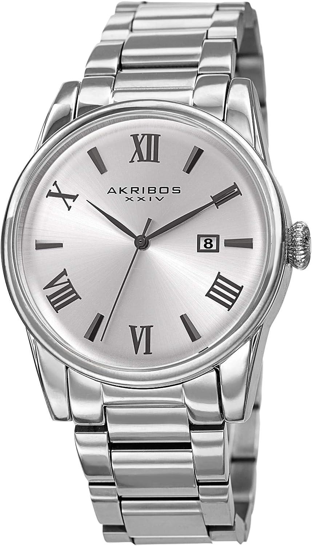 online shop Akribos XXIV AK1056 Max 71% OFF Stainless Steel – Men's Designer Watch Link