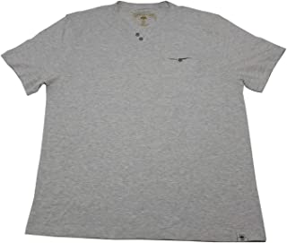 Copper & Oak Mens Size X-Large Short Sleeve Slub Knit Pocket Tee Shirt, Oat HTR.