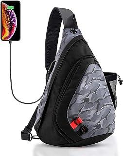 DOUN Outdoor Sling Bag Casual Daypack Multipurpose Chest Pack Shoulder Crossbody Backpack for Women & Men