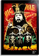 David Lo Pan from Big Trouble in Little China (1986) - Pop-Art Original Framed Fine Art Painting, Image on Canvas, Artwork, Movie Poster