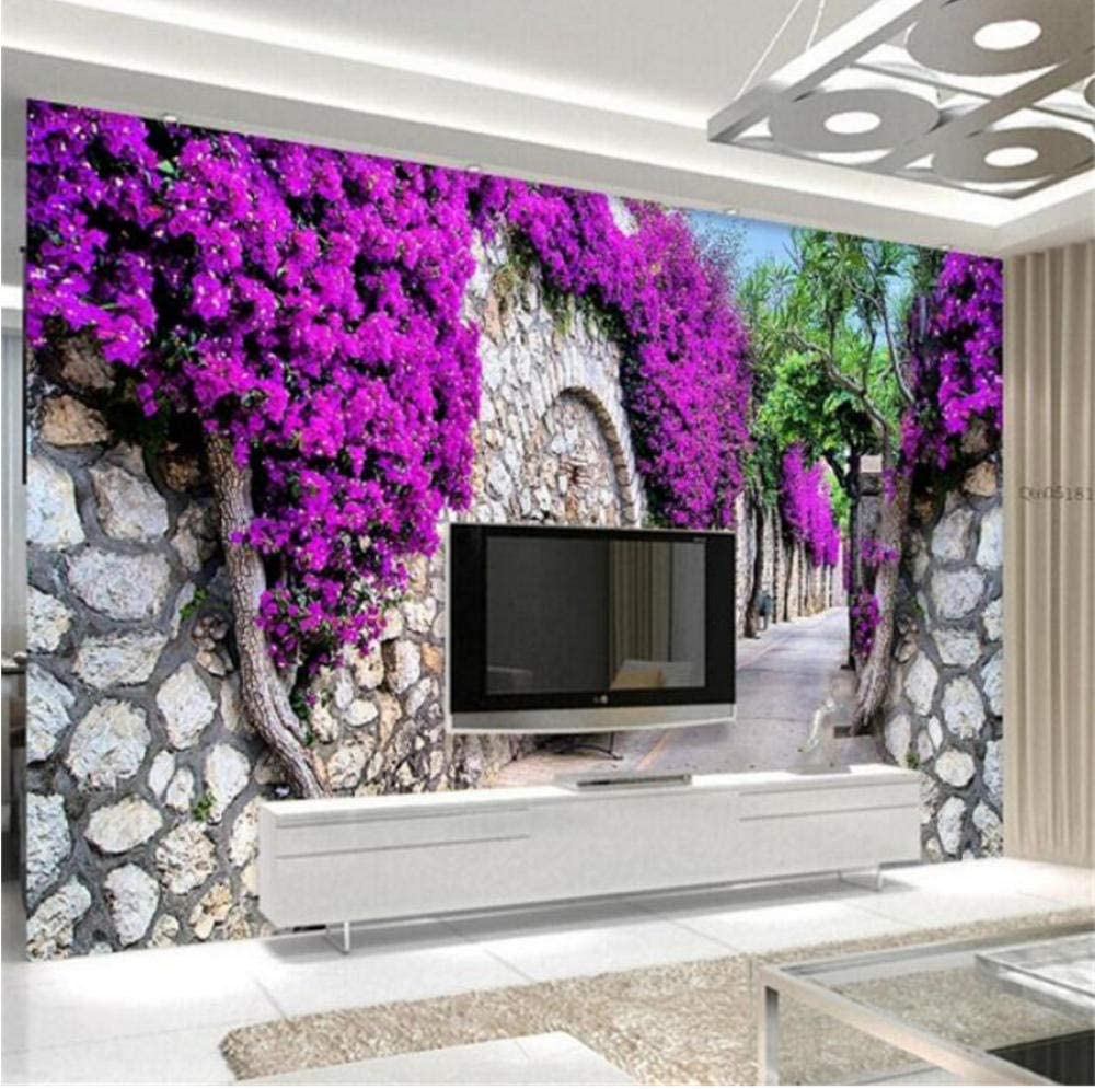 Zjxxm Challenge the lowest price Custom Mural Modern Outstanding 3D Purple Wallpaper Flower Wall