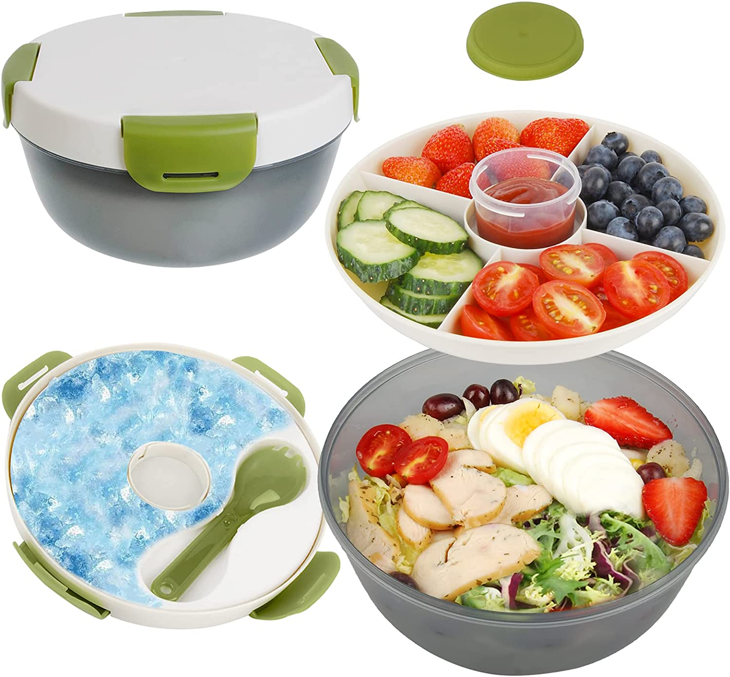 Salad Online limited product Containers Genteen BPA-Free B with Lunch Save money