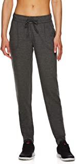 Reebok Women's Super Soft Jogger Pants - Mid Rise Waist Athleisure Sweatpants for Women