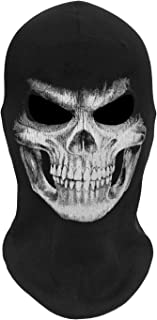 WTACTFUL Thick Skeleton Skull Ghost Death Halloween Balaclava Face Mask for Cosplay Costume