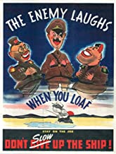 UpCrafts Studio Design War Propaganda Poster - The Enemy Laughs When You LOAF - WWII American Propaganda Posters Replica Military Wall Art Decorations (11.7 x 16.5)