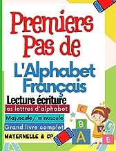 Premiers pas de L'alphabet français: Apprendre à écrire les lettres de l'alphabet majuscule et minuscule en cursive   Trac...