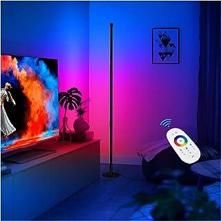 RGB Lampadaire Couleur LED Lampe Salon Lumière d'Ambiance sur Pied avec Télécommande, Néon Variateur Éclairage Illuminant ...