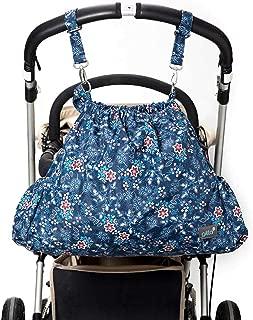 Gitta Carryall Baby Stroller Storage Bag Sack Basket Organizer 15.0 (L) x 5.1 (W) x 16.5 (H) inches Blue 2886