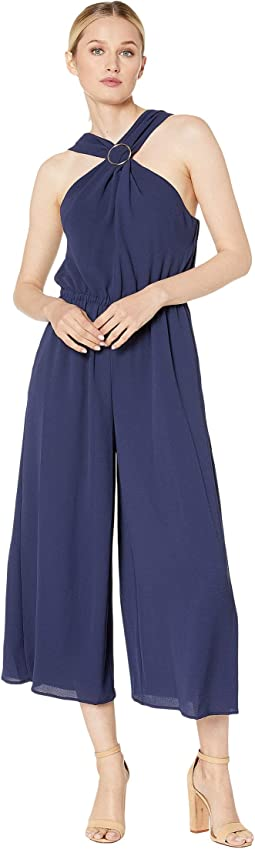 717ce1f9025 MICHAEL Michael Kors. Solid Ruffle Neck Jumpsuit.  97.99MSRP   140.00. True  Navy