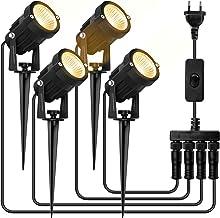 Spot Exterieur Led, SOLMORE 4 en 1 Lampe led jardin Spot à LED Jardin, Projecteur LED Eclairage Avec IP65 Étanche blanc chaude 3000K, pour Décoratif chemins Garden Yard Pathway
