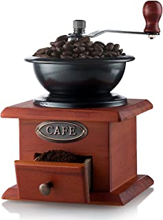 Gourmia GCG9310 Manual Coffee Grinder Artisanal Hand Crank Coffee Mill With Grind..