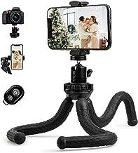 Fotopro Handy Stativ Flexibel Tripod Dreibein Kamera Stativ Ständer mit 1/4 Zoll Stativ Adapter und Handyhalterung für Sma...