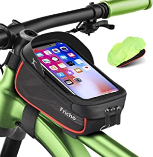 Regalo Hombre Bolsas de Bicicleta, Accesorios Bicicleta Impermeable del teléfono de la Bici de la Pantalla táctil de la ma...